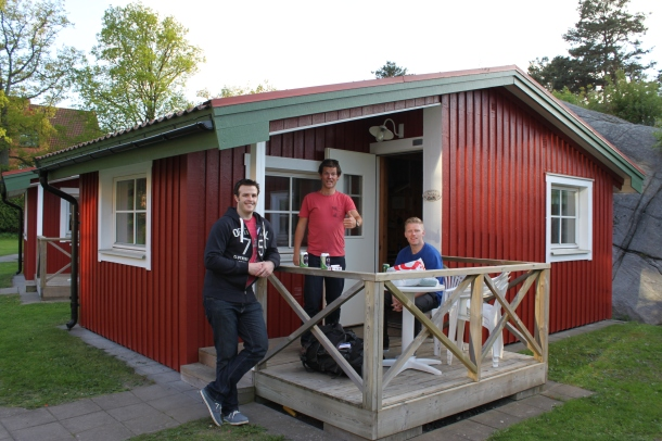 James, Sean and Rene at our luxurious cabin