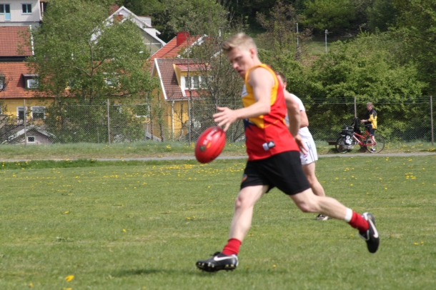 Rene in action for the Oslo Crows
