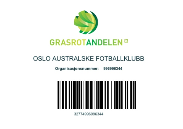 Oslo Crows grassroots Norsk tipping